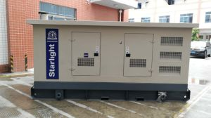 200квт 250квт электрической мощности двигателя Volvo бесшумный дизельный генератор установлен на заводе