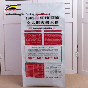 Cuatro Edge-Sealing pet food Bag con 10kg.