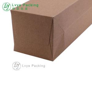 リサイクルされた印刷された買物をする工場ブラウンの単一のびんのワインの紙袋