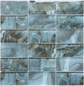 Mattonelle di vetro sembranti di marmo della parete del mosaico di colore del getto di inchiostro di Digitahi della striscia grigia di stampa