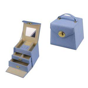 Meilleur cadeau mode multi-fonction boîte à bijoux avec miroir et oreiller (6721)