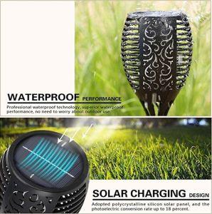 庭のヤードの芝生のテラスのデッキのポーチの通路のための太陽ライトをつけるトーチの炎ランプ屋外LED