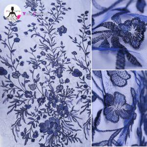 すばらしいパターン刺繍のアフリカの夫人のためのフランスの純網のレース