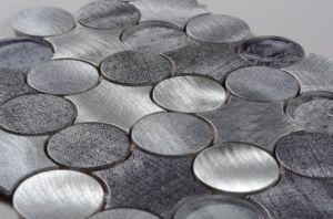 L'Allemagne Hot Sale beau style mosaïque en céramique en verre et métal