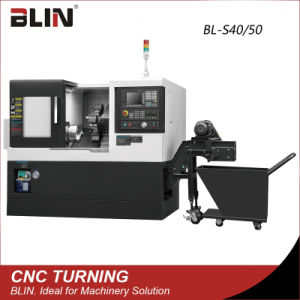 Inclinación de la cama de alta precisión con máquina de torno CNC de la tecnología de Taiwán (BL-S40/50)