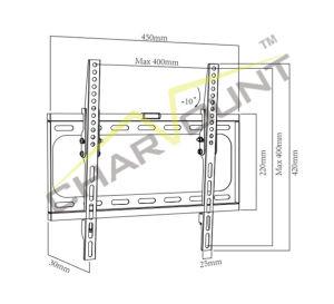 경제는 체중을 줄인다 26  - 55  조정 플라스마 평면 화면 LCD LED 텔레비젼 벽 마운트 (CT-PLB-E3012B)를