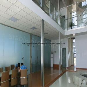 Bello edificio per uffici della struttura d'acciaio con il grande spazio