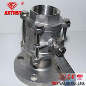Filetto di BACCANO 3PC/valvola a sfera flangiata dell'acciaio inossidabile dell'estremità