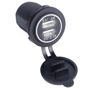 De waterdichte Dubbele Contactdoos van de Lader van de Auto van de Adapter Stofdichte 5V 2.1A/1A van de Lader van de Auto van de Haven USB Universele voor Citroën Honda Toyota