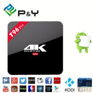 Fabrik-Preis T96 PRO3gb+16gb Amlogic S912 Octa-Kern Android 6.0 Fernsehapparat-Kasten mit Circule LED Licht und Hintergrundbeleuchtung