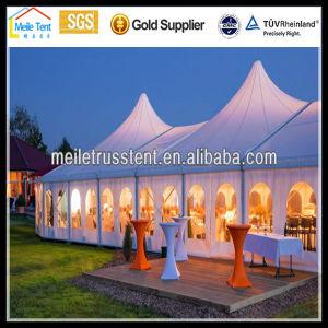 屋外の玄関ひさしの魅力的で豪華で大きく明確な屋根党イベントのカーテンの装飾の良質の防水アルミニウム結婚式の展示会のテント