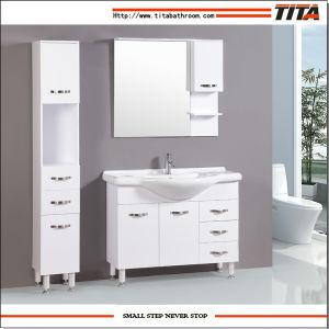 Hoher Glanz weiße MDF-Badezimmer-Möbel (TM8012)