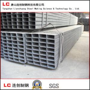 Tubo de acero rectangular negra para la construcción de la estructura