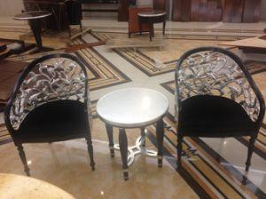 Juegos de comedor de lujo restaurante de estilo europeo/Mobiliario/lámina de aluminio (conjuntos de comedor GLNDT-001).