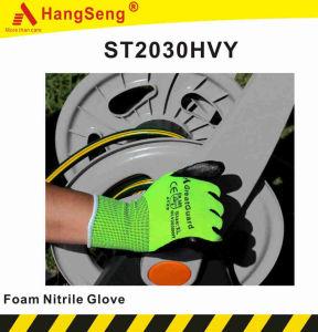 Luva de segurança de nitrilo de espuma para uso de jardinagem (ST2030BLK)