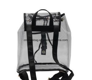 0.8Mm beauté transparente en PVC Lady sac à dos de la plage