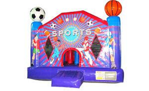 El castillo de rebote de fútbol inflables
