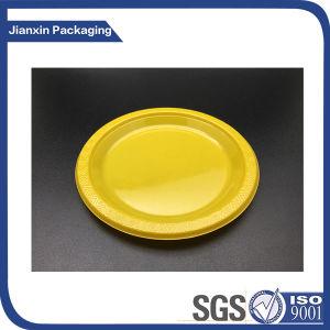 10 La vaisselle jetable thème parti de couleur de la plaque en plastique