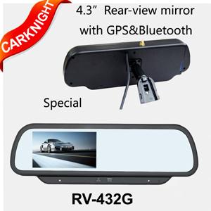 Carknight specchio di retrovisione dell'automobile da 4.3 pollici con la funzione di GPS (RV-432G)