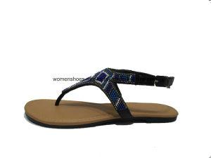 Slip-on chaud de Sandas de poussoir de Madame Fashion Women Flat Heel de vente