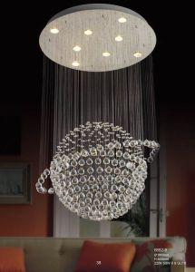 Moderner Decken-Doppelt-Kugel-Leuchter-Kristall