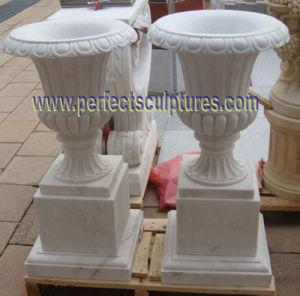 Мраморные вазы для сада камня (QFP341)