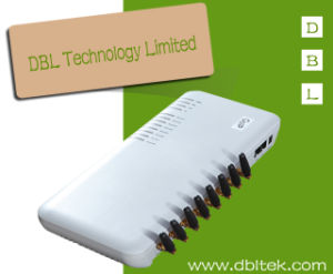 Un Gateway da 8 GSM VoIP Manica/della porta con SIP&H. 323 (GoIP8)