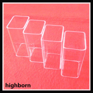 Ontruim de Gesmolten Buis van het Glas van het Kwarts van de Rechthoek