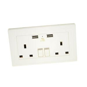 13A Prise commutée standard britannique UK prise de l'interrupteur mural USB