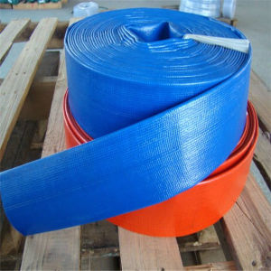 8 pulgadas de color azul/rojo/amarillo colorido Layflat plegables de PVC de suministro de agua de manguera de riego