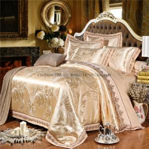 綿のジャカードホーム織物の寝具セット