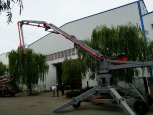安全なワーク・デザインのためのブームを置く13m 15m 17m 19m 23mのくもの具体的なポンプ端