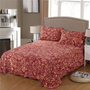 純粋な綿の石によって洗浄されるキルトの一定のホーム寝具セット