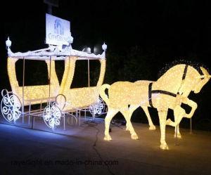 Pferde Kürbis-Wagen-LED-Weihnachtslicht