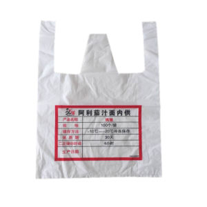 Cheap Custom PEHD/LDPE T-shirt en plastique des sacs de magasinage de l'impression