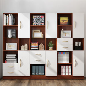 Shandong-Fabrik-freie Kombinations-hölzerner Bücherschrank-Buch-Schrank 2018