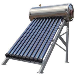 ヒートパイプのソーラーコレクタ(太陽水漕の太陽給湯装置)