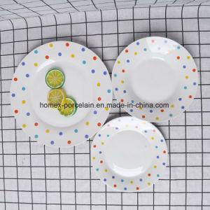 中国の高品質の磁器のディナー・ウェアは新式とセットした