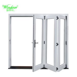 Alluminio economico di stile che piega Windows con vetro Tempered
