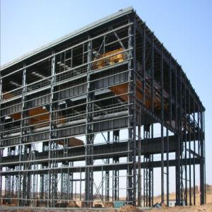 Metálica de acero prefabricada Mateial del medio ambiente comercial de la estructura de la construcción de almacén