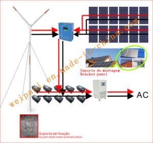 5kw sistema generador de energía eólica para el hogar o comunidad utilizan fuera del sistema de cuadrícula de batería de gel 12V100AH