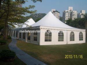 日曜日の屋外の保護証明される携帯用広告のホテルPVCファブリック贅沢は安全で物質的で大きい10X10m屋外の結婚披露宴のテントを承認する