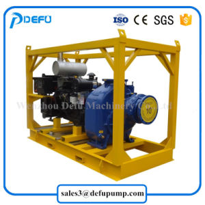 8 Zoll - hohe Kapazitäts-Dieselmotor-Selbstgrundieren-Pumpe für Flut