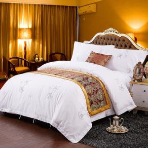 200tc Hotel Bedding Set/Sateen impresso da cama do hotel