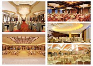 Commerce de gros événement banquet de mariage blanc spandex polyester Président Couvercle capot table (YC-805)