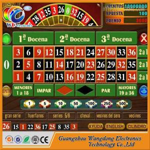 Gabinete de lujo en la ruleta del casino máquinas de juego con pantalla táctil