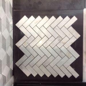 Het Ontwerp Shell van de luxe en de Marmeren Tegel van het Mozaïek van het Patroon van het Mozaïek van de Visgraat