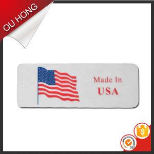 La ropa al por mayor popular accesorios personalizados en PVC barato Hangtag Hang Tag