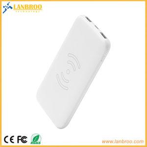 Super Slim Banco de energía inalámbrica con 2 puertos USB 8000mAh Distribuidor / revendedor de almacén de la cadena quería