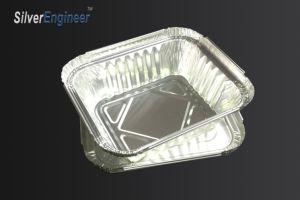 L'aluminium recyclable carré d'aluminium à usage unique Boîte à lunch/bol/récipient alimentaire